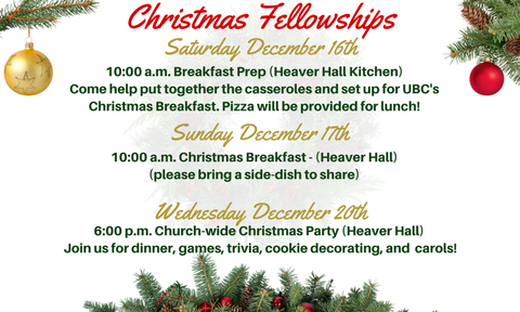 Christmas Fellowships UBC