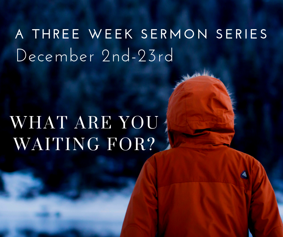 "During this Advent season we will try to practice the spiritual discipline of  waiting . Instead of being hurried and focused on ourselves and all of the important things that we have to do, we will endeavor to be reminded: ""I'm not in control of the world, so I'm going to wait with Jesus, and I'm going to wait in peace."" In other words, this Advent season we will seek to wait on the Lord."
