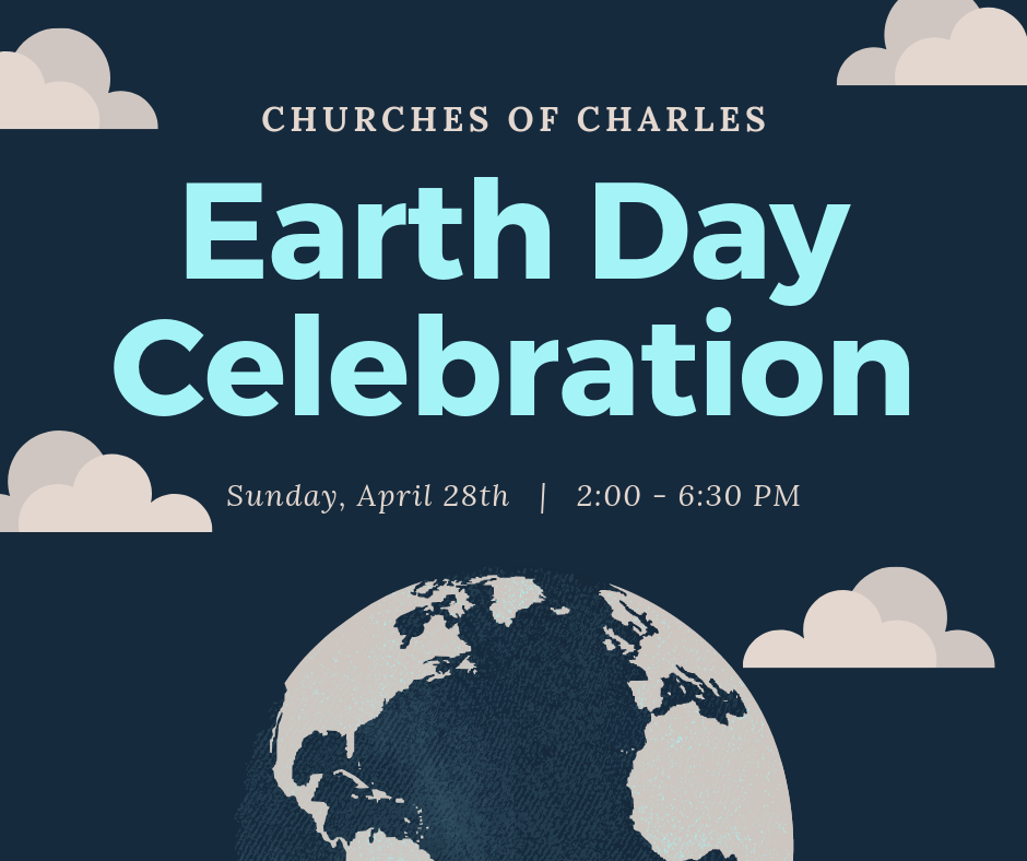 UBC is working with the Churches of Charles to host a series of hands-on workshops to celebrate Earth Day. Activities will include making bat and/or butterfly houses, potting pollinator friendly plants, making seed bombs, and recycling t-shirts into shopping bags. We will also have the opportunity to work on two community gardens. The day will conclude with a dinner together at 5:30 PM. Please  sign up  for the various activities so that we know how much food and supplies to have. We will be collecting used heavy cotton t-shirts to repurpose as bags. Please drop your large or extra large shirts off under the coat rack near the Greenway entrance.