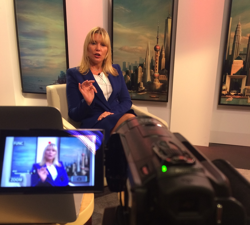 Val recording her Thoughtfully Ruthless® CEO video series for the Financial Times.