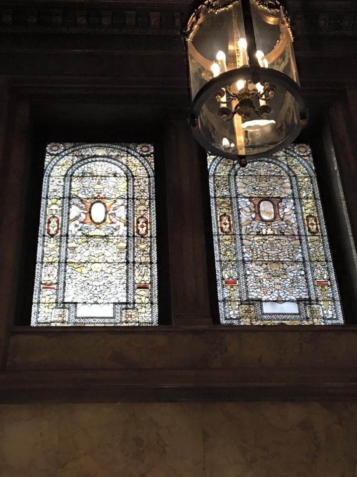 Tiffany windows, Lotte Palace Hotel, New York