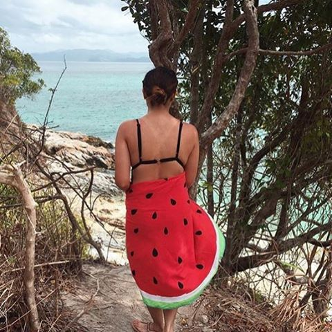 Beach Babe alert 😍 @chrisssssie wearing our 🍉 Circle Sarong in El Nido, Palawan ☀️ Thank you for taking your Lyloh on your adventures!