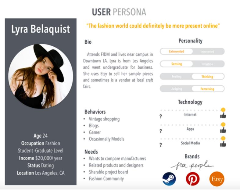 User Persona - The Grad Student