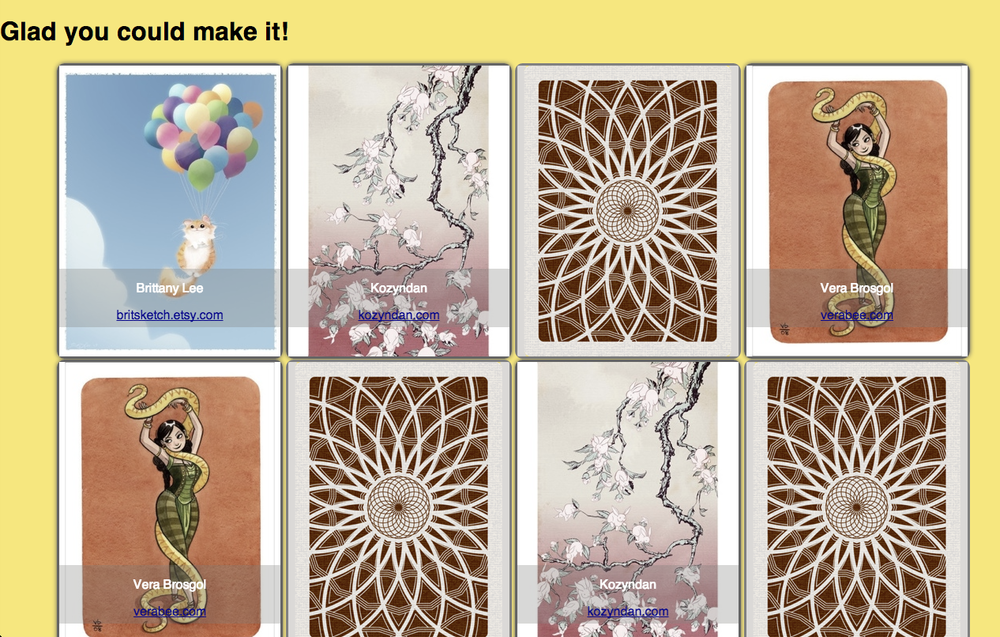 Play with cards from some of the best illustrators on the web.