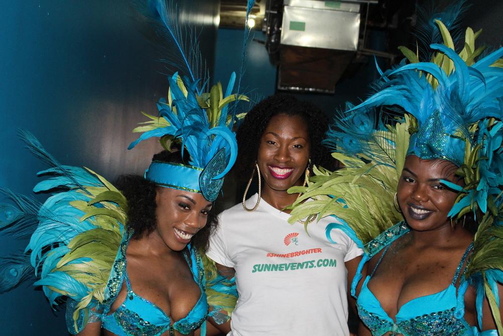 Denala Ndake Hall, Designer with models Miyah Soyarade Harris & Jaukia McConeyhead Photo by Troy Belle