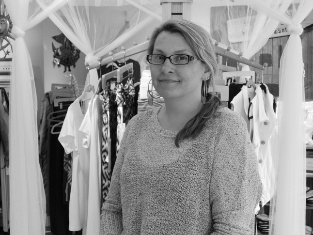 Lisa Meninno, owner of Gifts 4 Soul on Market Street in downtown Ipswich.