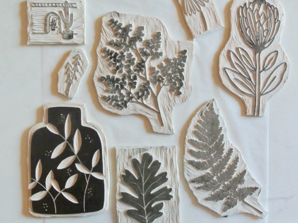lino blocks by samantha hirst