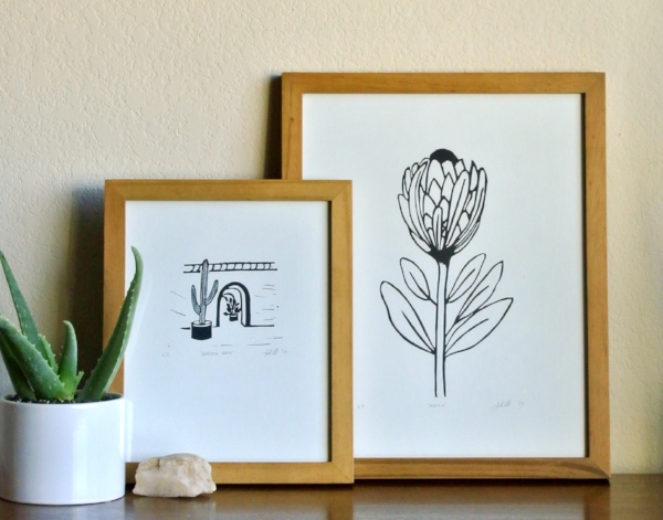 final linocut prints by samantha hirst
