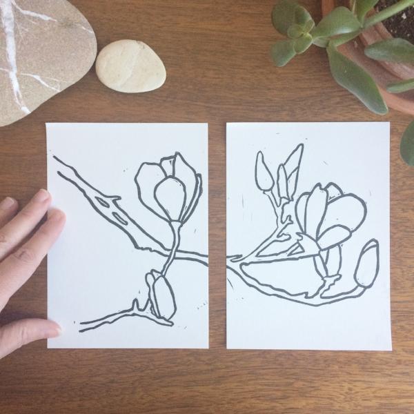 saucer magnolia print