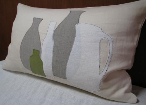 Vessels pillow by Samantha Hirst