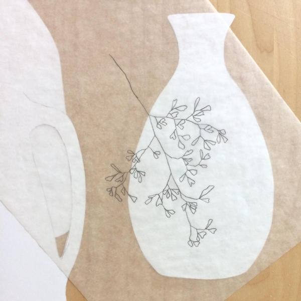 Fern sketch + Vessel by Samantha Hirst