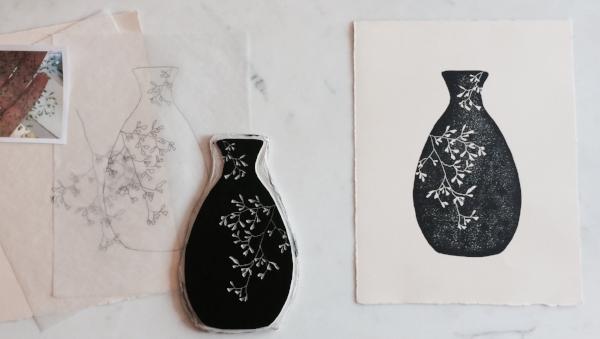 Vessel No.2 Linocut Print