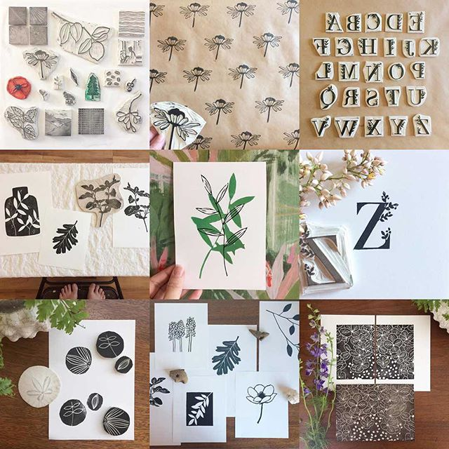 Fun to look back at your favorites from this year! #2017bestnine #linocut #seedrawprint #inspiredbynature
