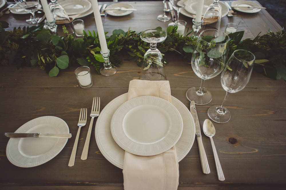 refined and simple wedding placesetting