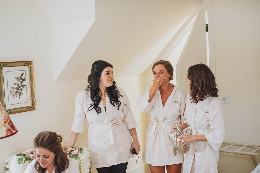 bridesmaids get ready at private residence