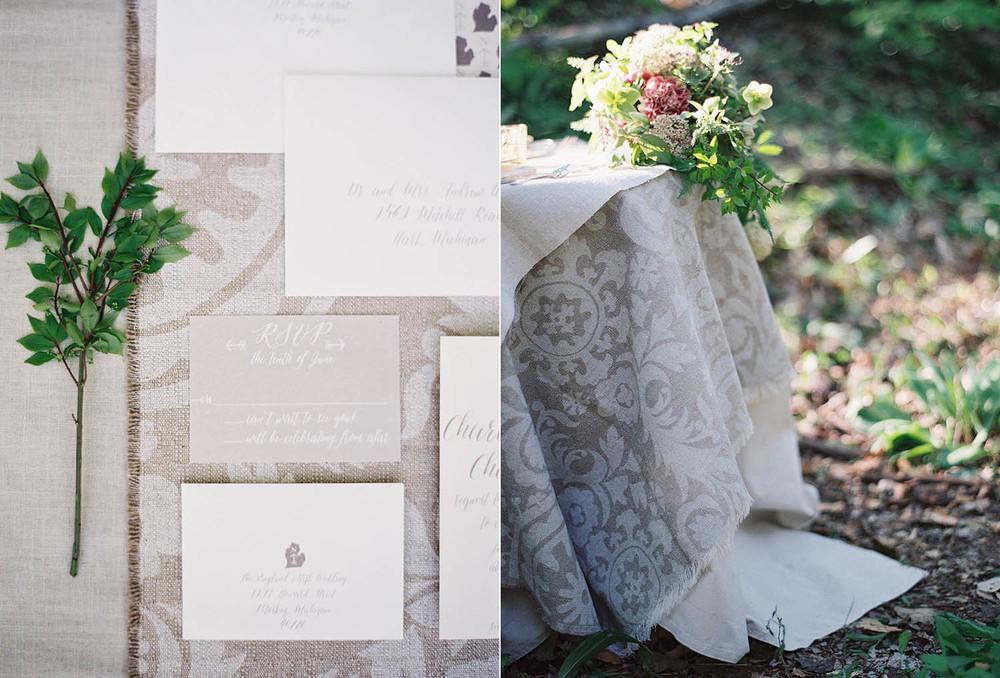 linen invitation suite