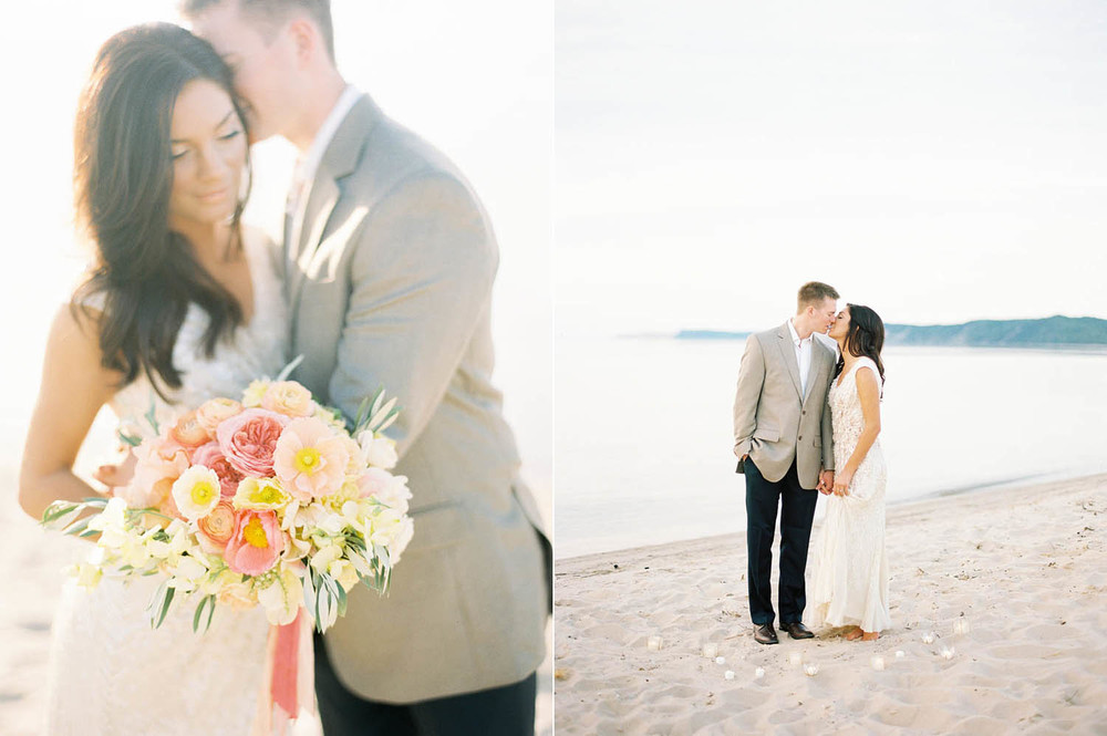 dreamy sunset pastel wedding