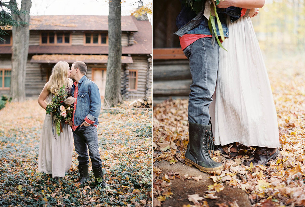 chic fall northwoods picnic styled shoot