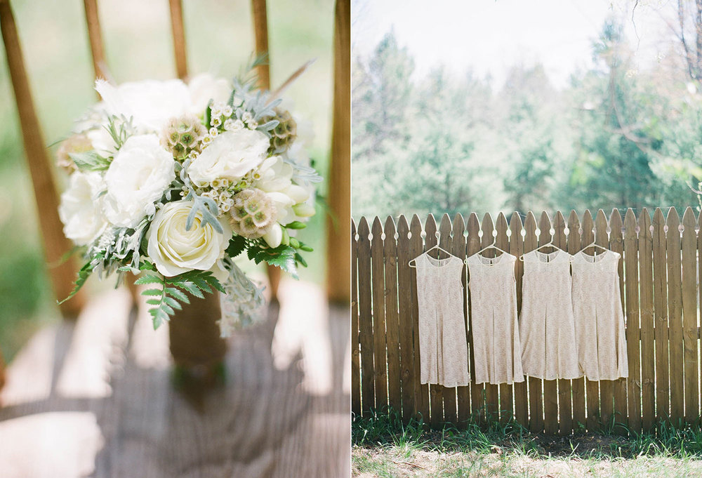 taupe and cream rustic wedding bouquet