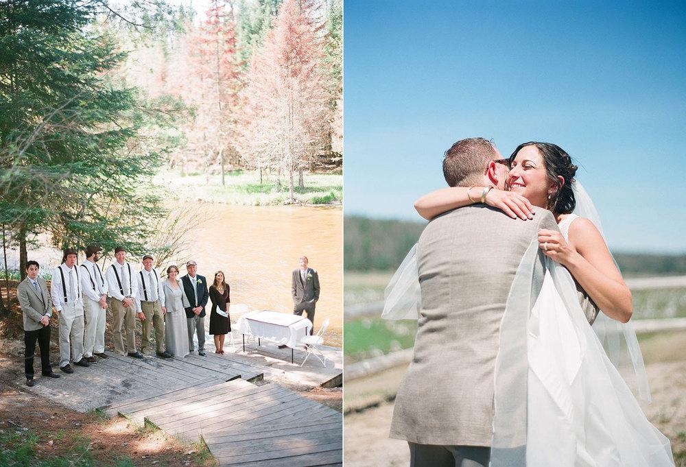 creekside wedding ceremony northern michigan