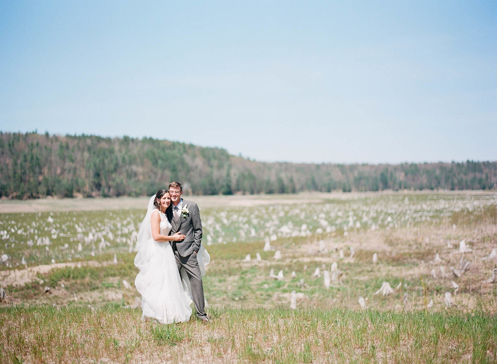 getting married in a michigan field