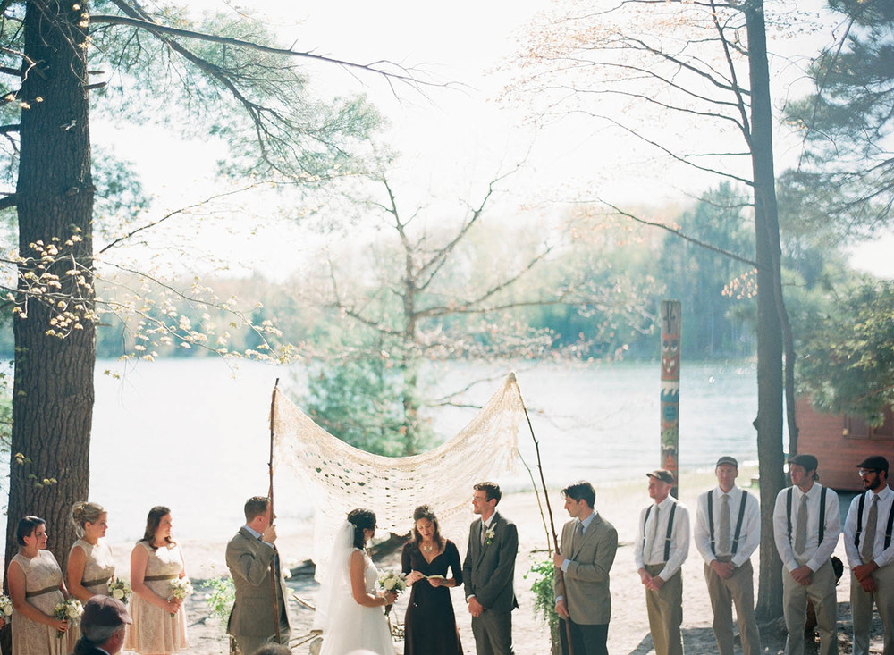 lakeside forrest wedding ceremony
