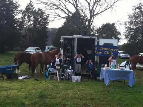 You'll see that Talana's trailer was the 'party' trailer while they were waiting for awards.  Ani led WTPC and a few members from other pony clubs in a game of King Frog.