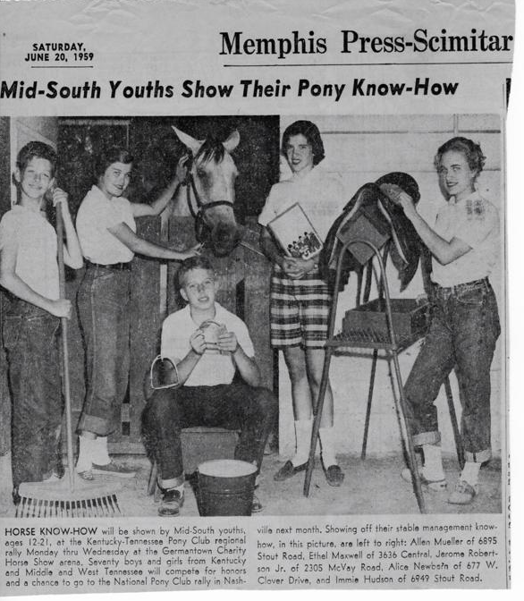Pony Club regional rally was  held in Germantown in 1959.