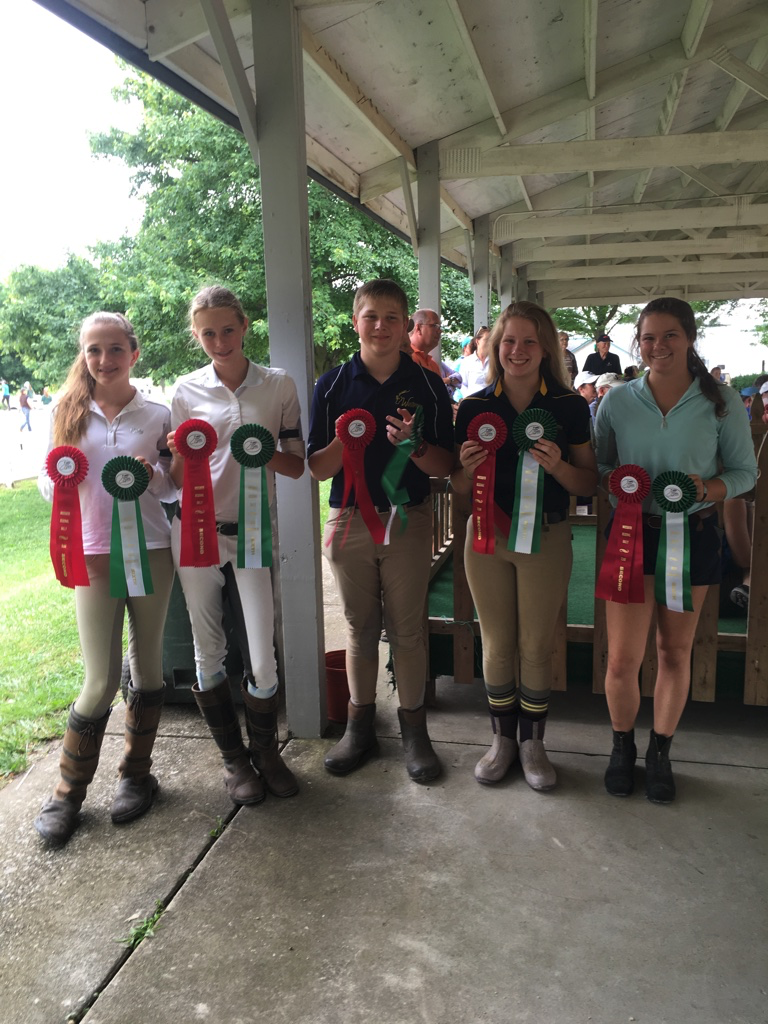 Grace, Sarah Beth, Ethan, Gretchen and Libby (from MTPC) had great success at the Show Jumping Rally in Lexington, KY in June 2016