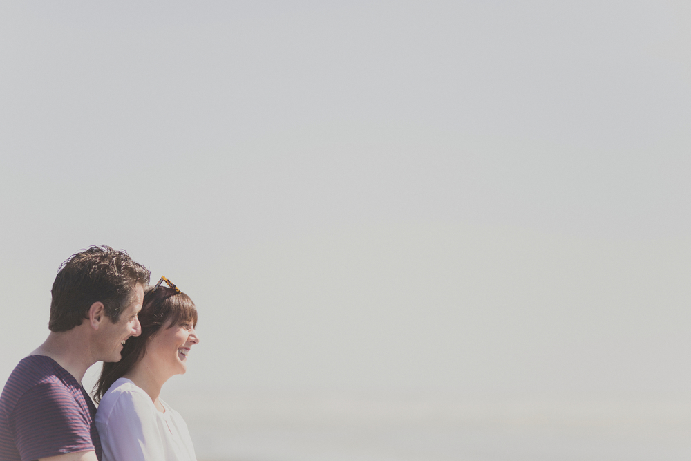 Engagement session on beach in Kapiti, NZ.