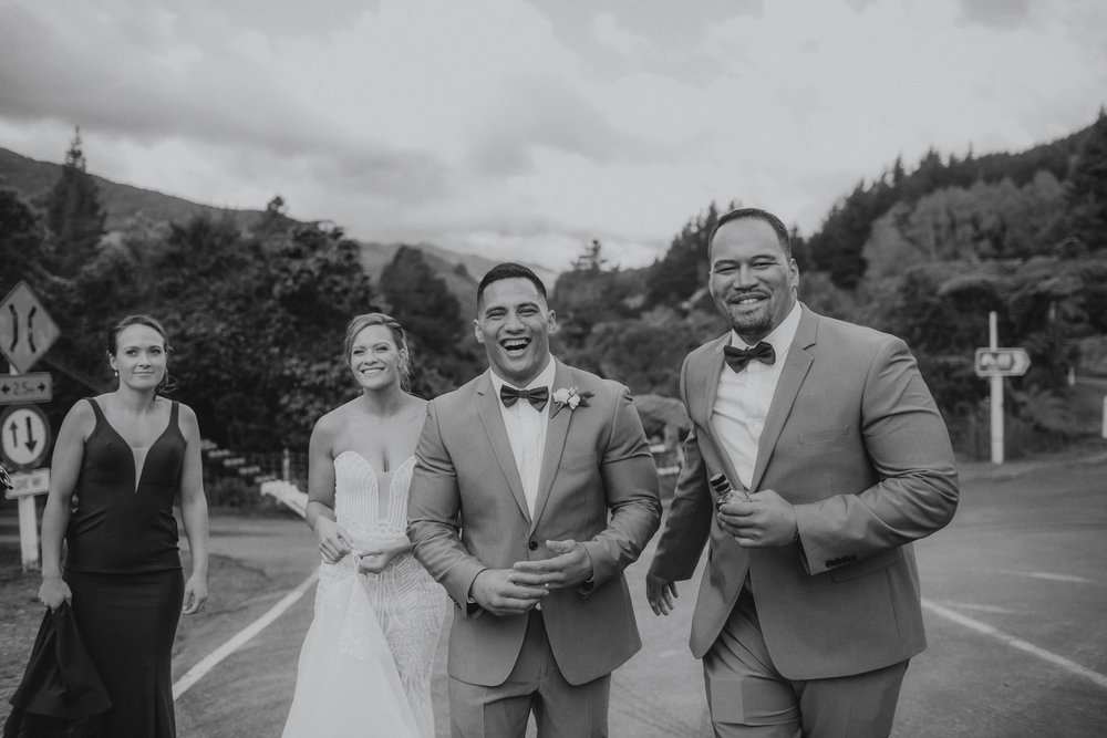 Beautiful winter wedding, Aimee and Taka were married in Wellington, Otaki, on the Kapiti Coast. Photography by Siaosi Photography.