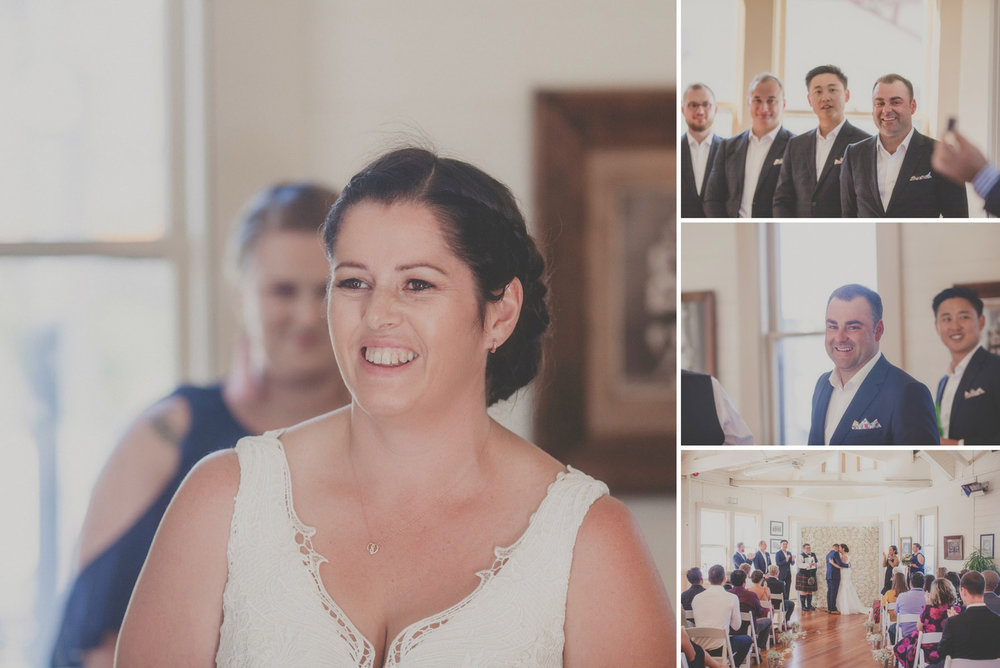 Beautiful Wellington City wedding, Claire and Sam were married in at the Boat Shed on Wellington's waterfront. Photography by Siaosi Photography.
