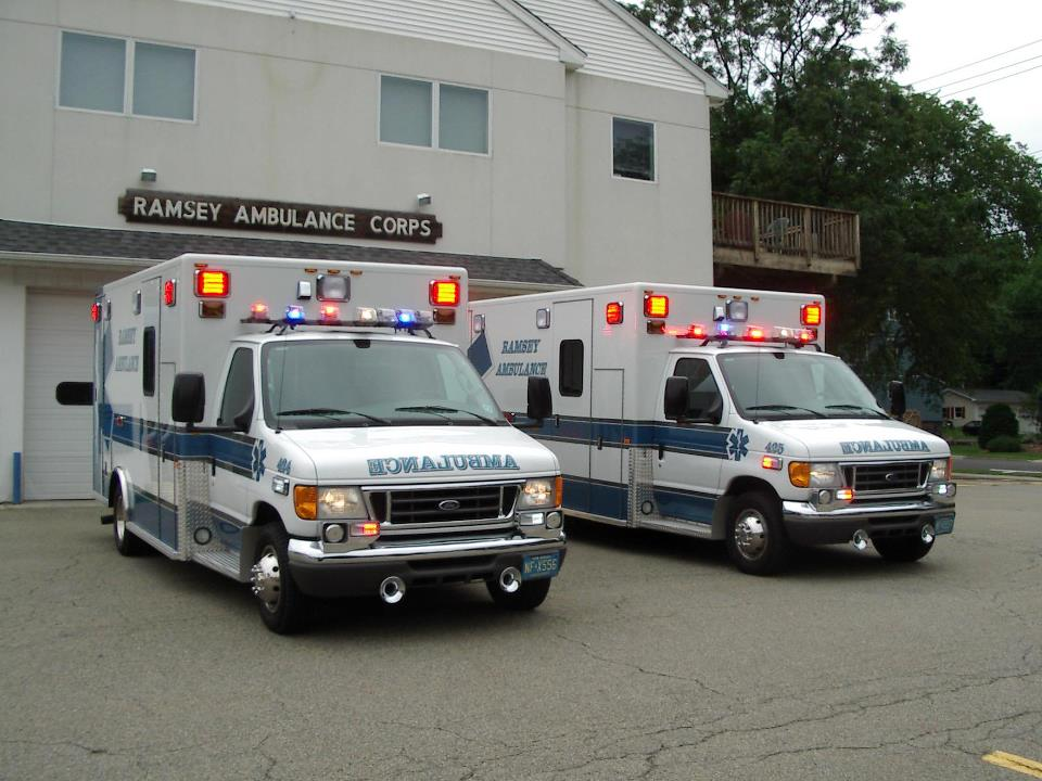 "Ambulance 424 & 425: 2007 Ford E-350 Type III ambulance conversions that joined the department in 2008 are nicknamed ""the twins"" since they were custom built side by side by PL Custom. The 2007 Ford E-350 model 424 has since been retired and replaced by the 2014 Horton shown above.   424 - Dedicated to Life Member Michael F. Adams  425 - Dedicated to Honorary Member Larry Inserra Jr."