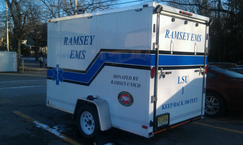 LSU - 1: Logistical Support Unit 1 which is a trailer that was purchased in 2012 with funds donated by the Ramsey Greater Unico.