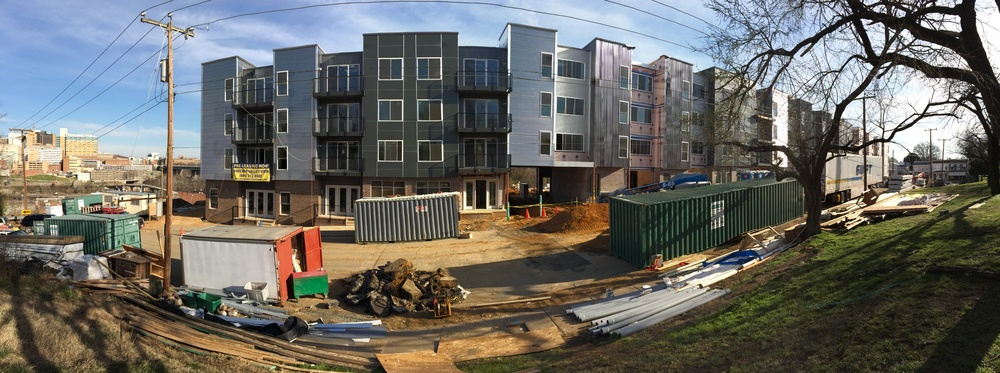 Cedar St - Construction panorama