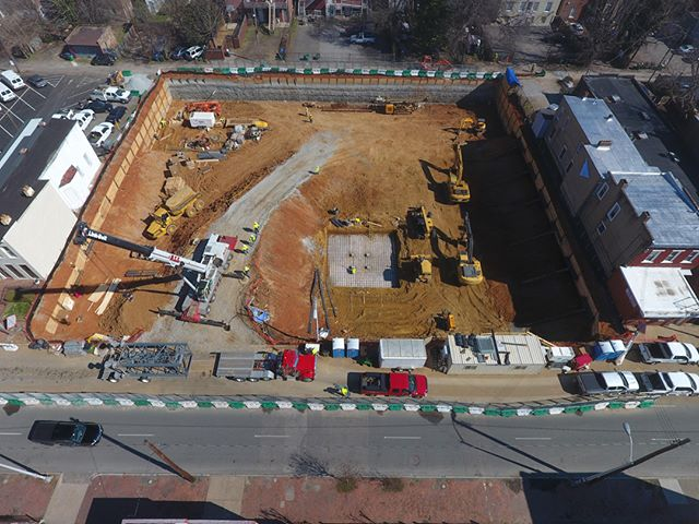 Marshall Lofts. That's a whole lot of hole.  #marshalllofts #jacksonward #newconstruction #walterparksarchitects