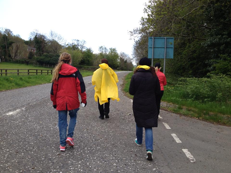 CJ, Rev. Mahoney, Danielle, Rose, walking to #KeepIrelandAbortionFree