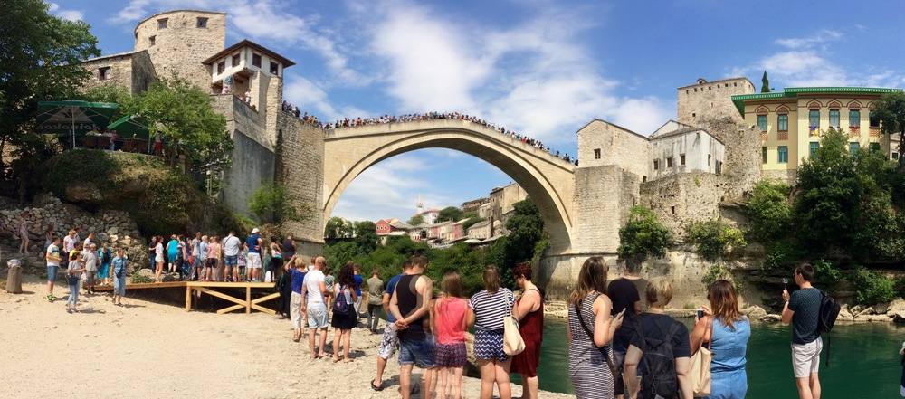 The bridge over the river Nevereva, Mostar, Bosnia and Herzegovina.