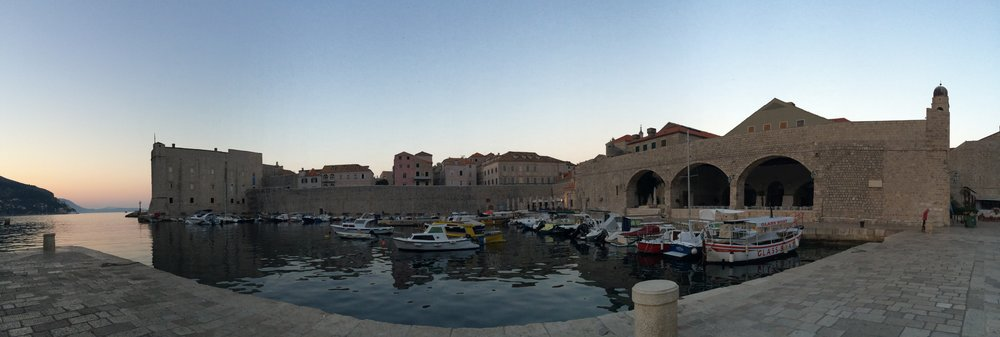 The harbor at Dubrovnik