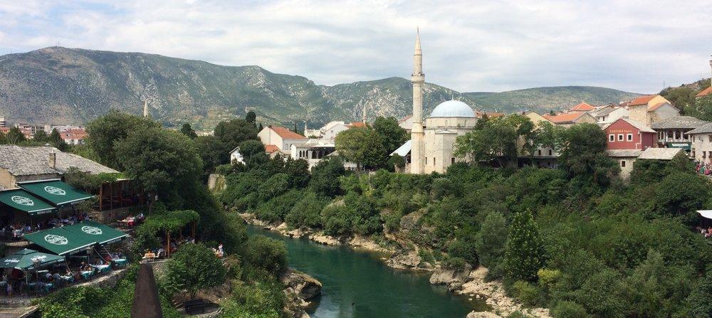 River Neretva, Mostar, Bosnia-Herzegovina.