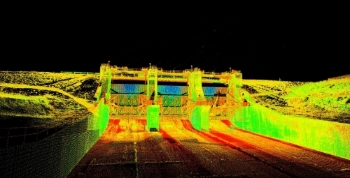 3D Laser Scan and Point Cloud of New Hogan Dam