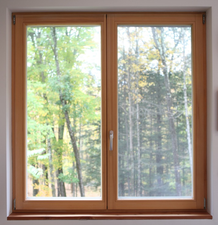 Tilt + Turn double window Pine frame with oil finish Double insulated glass