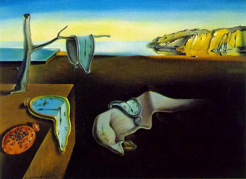 This is your mind after encountering timezones, daylight savings time, and leap seconds in PHP/MySQL. A total wasteland. (Salvador Dali)