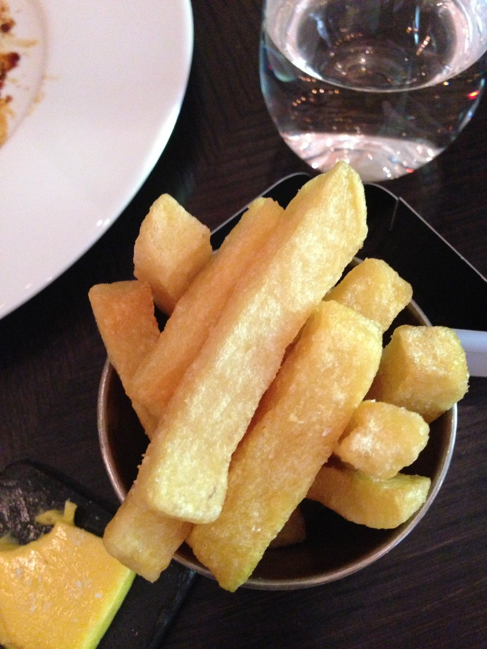 Triple Chips at Dinner by Heston