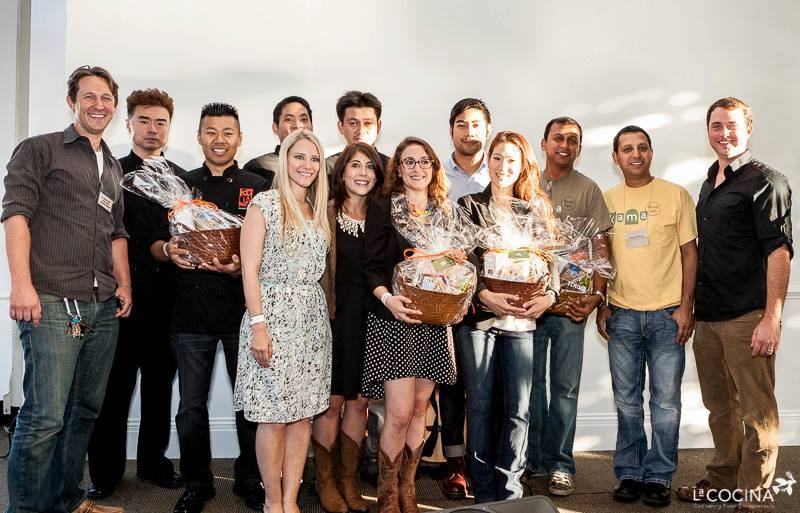 2013 SF Local Forager Contest Winners (from L-R): Caleb Zigas (Executive Director of La Cocina); Koja Kitchen; Clearly Kombucha; Fritas Shack; and KFL