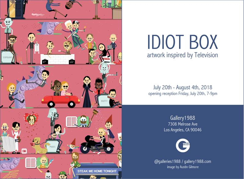 Idiot Box opens July 20 at Gallery 1988