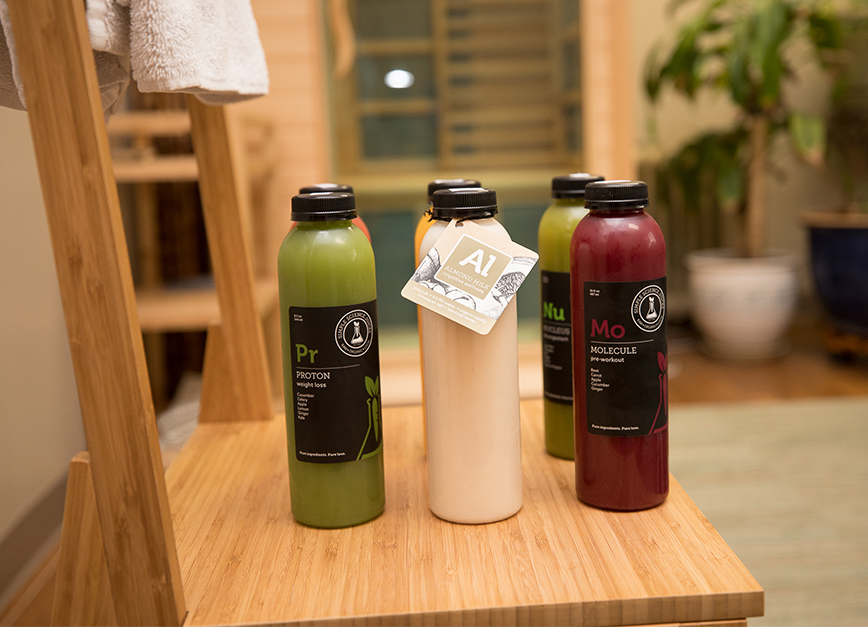 "The ""Simple Detox"" cleanses your body of toxins by sitting in an infrared sauna and completing a juice fast. The juices are provided by Simple Science Juices."