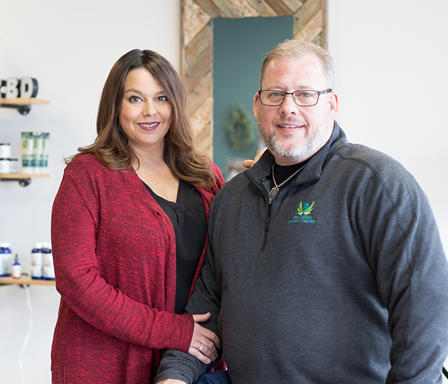Brian and Susan Pitts, Phoenix Natural Wellness founders and owners of the Overland Park and Ottawa stores
