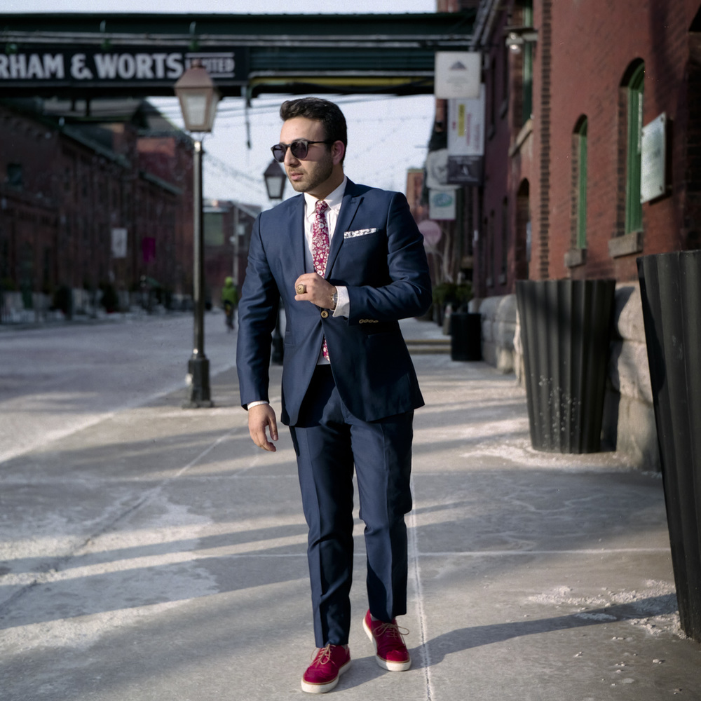 Suit: Zara Shoes: Roots Canada Tie: Mahayatra