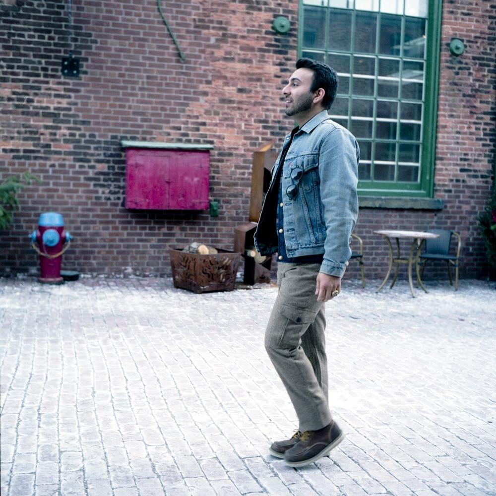 Jacket  Vintage Levis      Puffer Vest   Frank & Oak    Sweater  Van Gils      Pants  Outclass